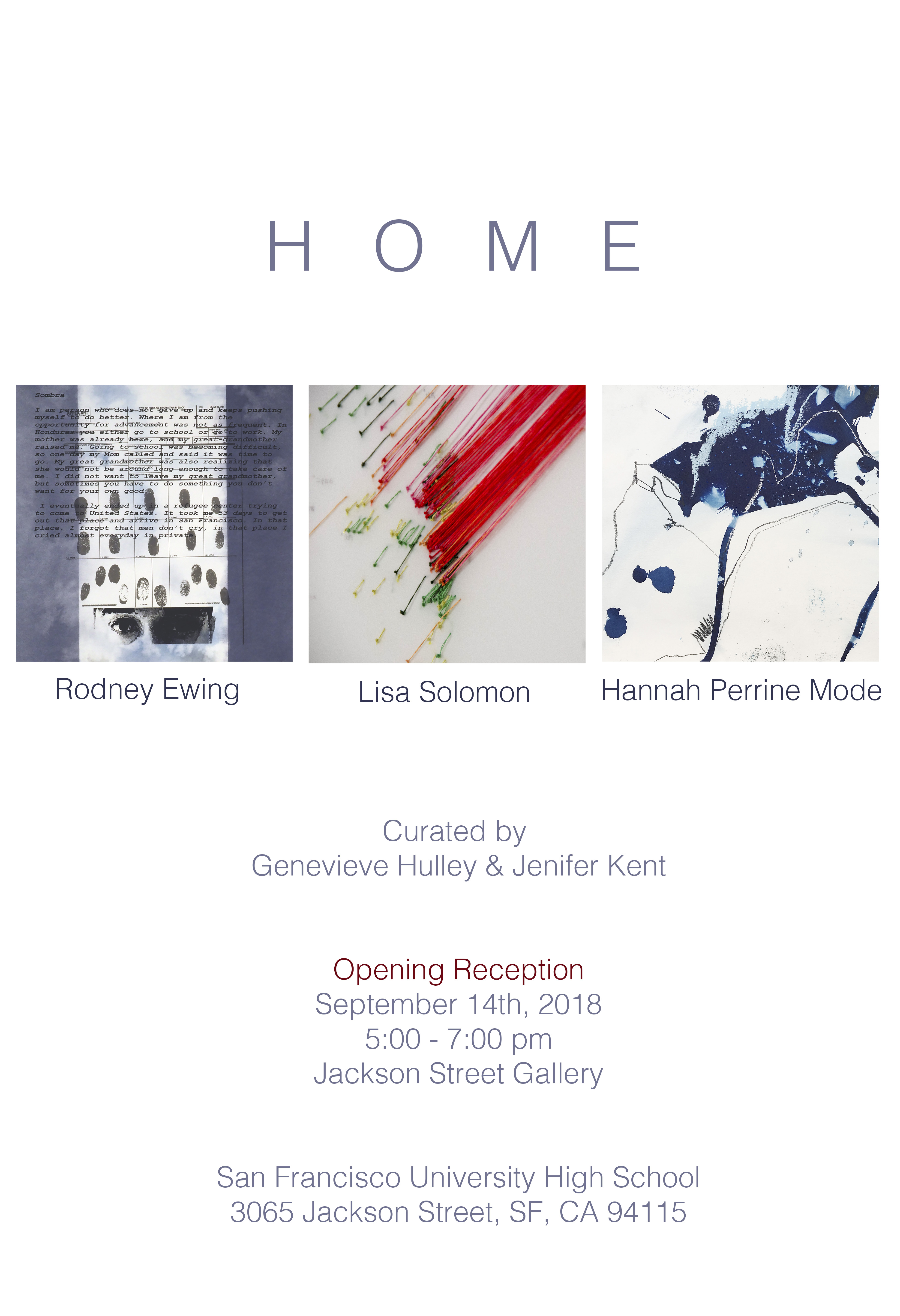 Jackson Street Gallery Exhibition Opening Reception: September 14